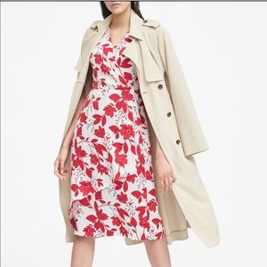 Floral Faux Wrap Midi Dress NWT